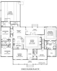 Craftsman Style Open Floor Plans Craftsman Style House Plan 4 Beds 3 Baths 2639 Sq Ft Plan 430