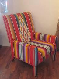 chair upholstered in vintage zarape funky pinterest vintage