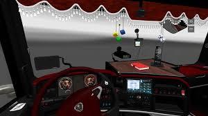 Interior Truck Scania Euro Truck Simulator 2 Mods Scania Interior Red Tones Ets 2 Mods