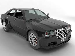 chrysler 300c black 300c car 3d model