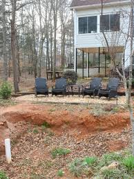 backyard pond and eating area duke manor farm