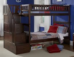 amazon com columbia staircase bunk bed twin over twin antique