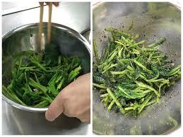 soja cuisine recettes salade d épinard aau sésame noir et sauce soja cuisine japonaise