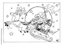 reindeers sleigh coloring pages hellokids