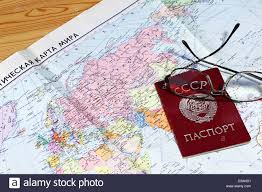 Ussr Map The Soviet Union On An Outdated Political Map And Passport Of The