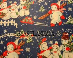 vintage christmas wrapping paper christmas wrapping paper etsy