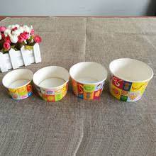 Personalized Ice Cream Bowl 6 Oz Disposable Custom Personalized Ice Cream Cup Paper Bowls 6