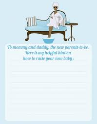 baby shower notes blue american baby shower notes of advice