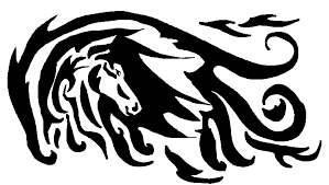 tribal horse design by louawolf on deviantart