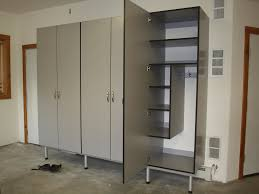 garage cabinets closets plus silverfrost with black edgebanding