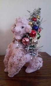 pink poodle glass ornament poodles