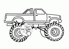bigfoot monster car coloring page for kids transportation