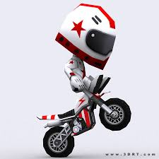toy motocross bike 3drt chibii racers dirt bikes animated cgtrader