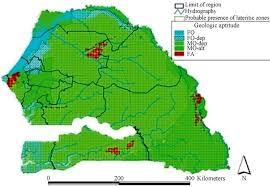 Dakar Senegal Map Feasibility Study Of Boreholes Hand Drilling In Senegal