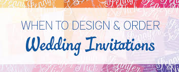 order wedding invitations when to design order wedding invitations every last detail