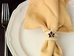 fall diy napkin rings using raffia mod podge rocks