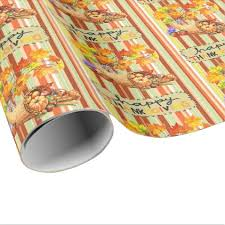 wrapping paper thanksgiving