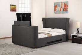 Grey King Size Bed Frame King Size Bed Frame With Tv New 5 0 Kingsize Grey Fabric Tv