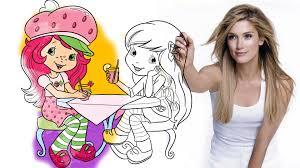 strawberry shortcake u0026 lemon meringue drawing and coloring youtube