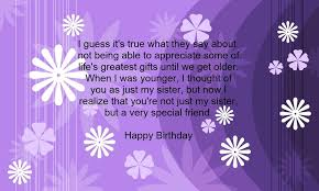 sister birthday verses card verses greetings and wishes