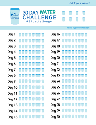 Challenge Water Filled 30 Day Water Challenge 64ozchallenge Free Printable Scrap