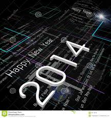 electronic new year cards new year greeting on background of technology stock illustration