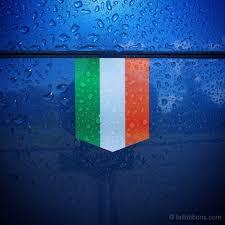 Irrland Flag Flag Of Ireland Car Sticker Tailribbons