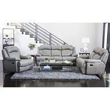 Reclining Sofas And Loveseats Htons Top Grain Leather Reclining Sofa Loveseat And Chair Set