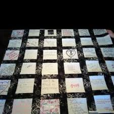 Wedding Quilt Sayings A Wedding Quilt Have Your Guests Write Messages On The Fabric Not