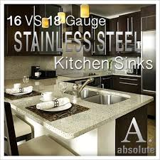 16 Gauge Kitchen Sink by 16 Gauge Vs 18 Gauge Stainless Steel Sinks
