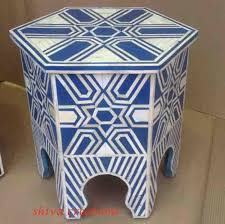 Indian Table L Bone Inlay Coffee Table Writehookstudio