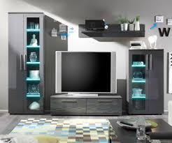 Wohnzimmer Beleuchtung Kaufen Bezaubernd Grau Wohnwand Anbauwand Giuliana Cm Mit Beleuchtung