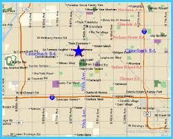 map of az map of glendale arizona travelsmaps