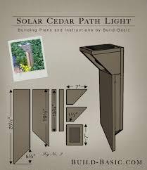 diy solar flood light build a solar cedar path light building plans by buildbasic www