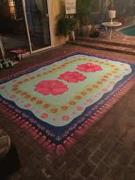 Make Your Own Outdoor Rug by Painted Rug On Concrete Patio Decor Ideas Pinterest Paint