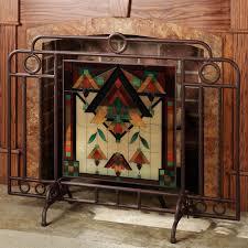 living room bronze custom fireplace screen log insert