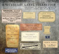 label templates for adobe photoshop digital antique apothecary label elements templates collection psd