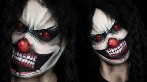 killer clown makeup halloween scary clown halloween tutorial youtube
