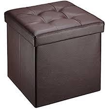 amazon com ollieroo faux leather folding storage ottoman bench