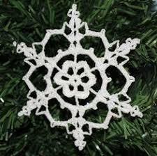 easy crochet snowflake ornament pattern crochet pattern
