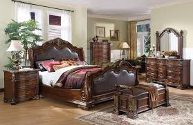 King Sleigh Bedroom Sets by Sleigh Bedroom Furniture Set With Leather Headboard And Footboard 104