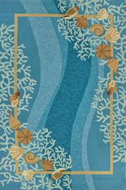Cottage Rugs Shells And White Coral With Shells Area Rug Beautiful Blues And
