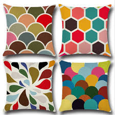coussins canap coussin decoration canap top colorful triangle grand plaid coussin