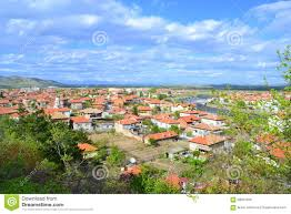 Small Town Bulgarian Small Town Scenic View Stock Photo Image 59051509