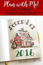 december 2016 bullet journal setup plan with sublime