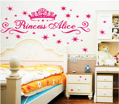 Barbie Home Decoration Free Shipping Pink Princess Crown Wall Stickers For Baby Room