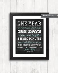 1st anniversary gifts chalkboard style anniversary gift for husband for