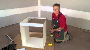 How To Build A Wall Cabinet by How To Assemble An Oven Cabinet Diy At Bunnings Youtube