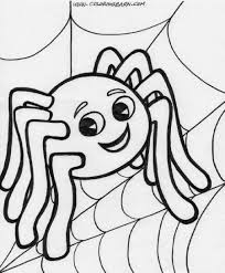 halloween spider coloring page
