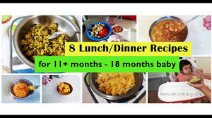 table food ideas for 9 month old 8 lunch dinner recipes for 11 months 18 months baby homemade